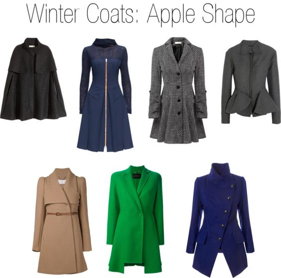 Winter Coats for Apple Shape